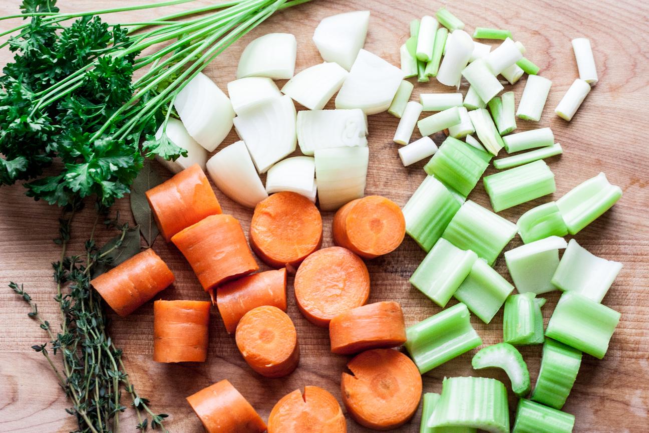 raw-chopped vegetables