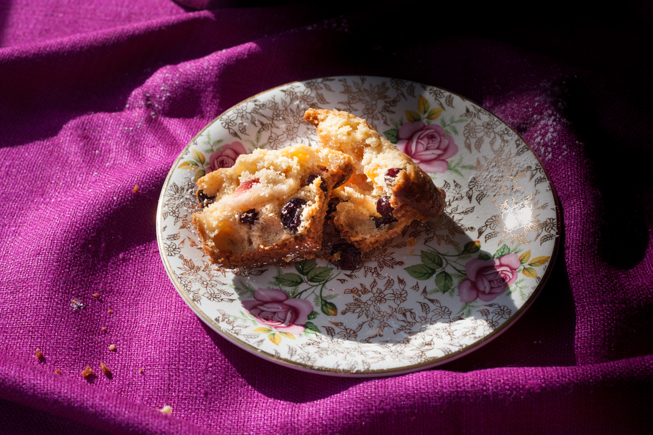 simnel cakes on a plate