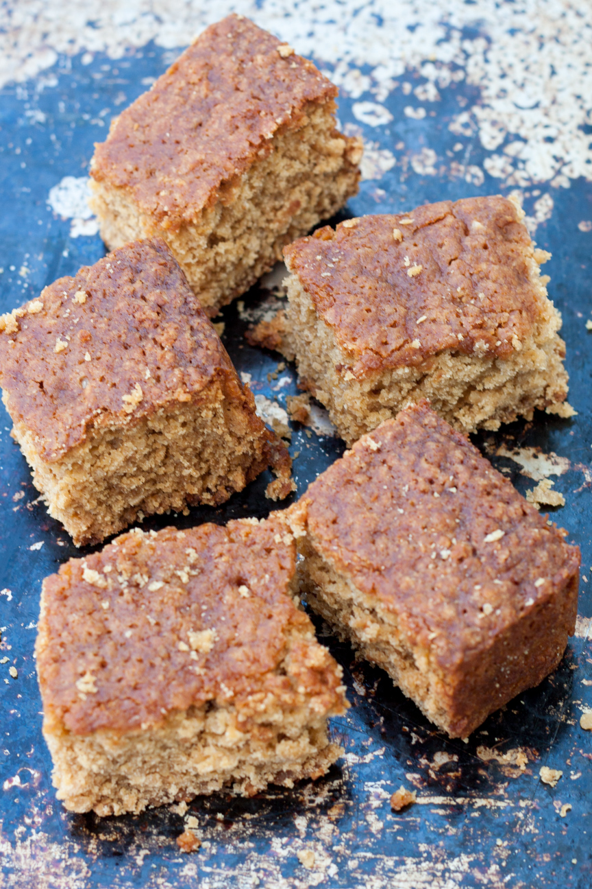 lancashire maple-oat parkin cake