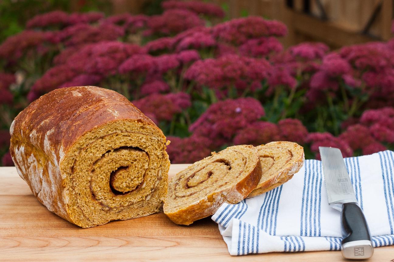 cinnamon swirl pumpkin bread