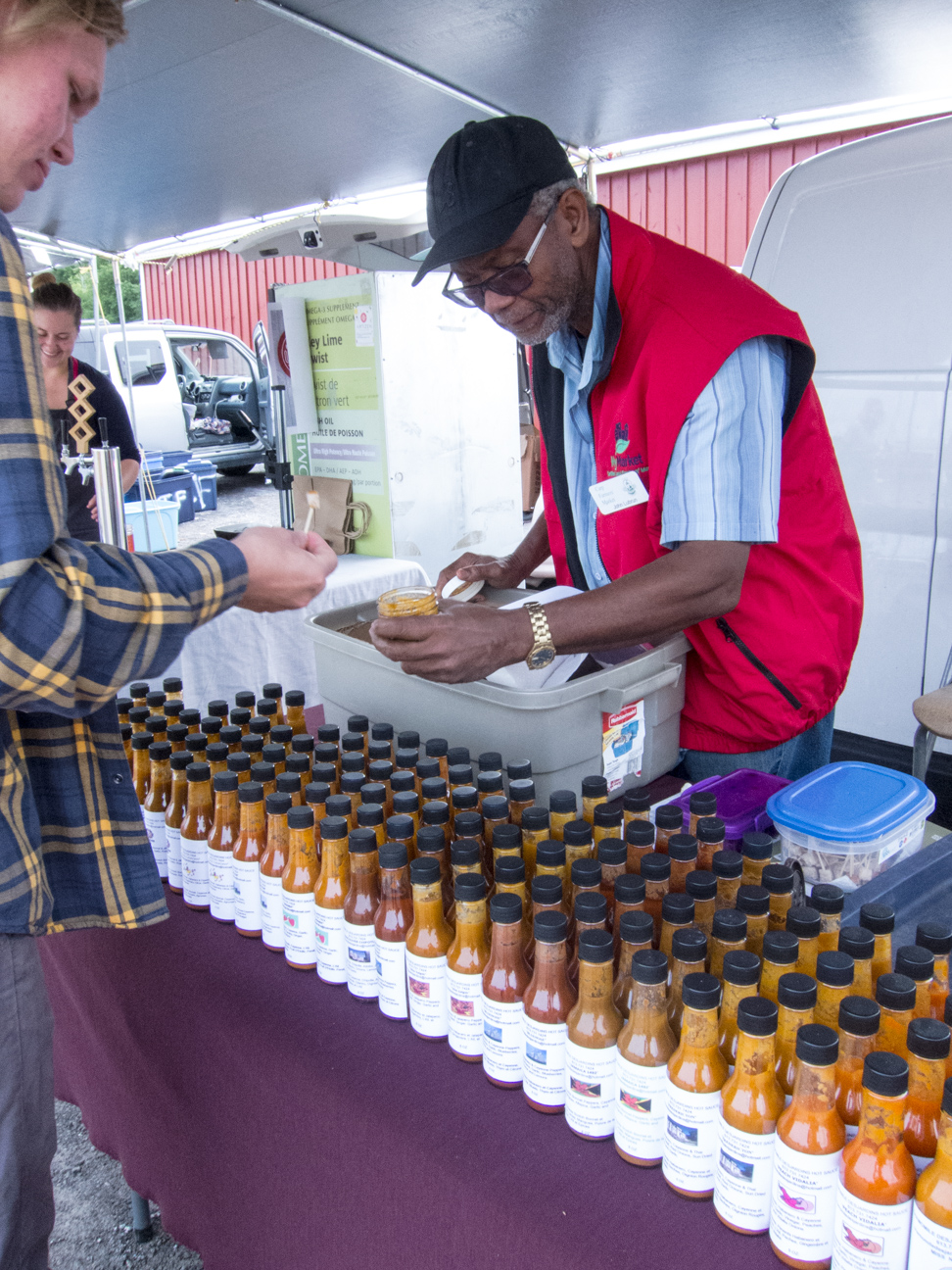hot sauces at Ottawa Farmer's Market