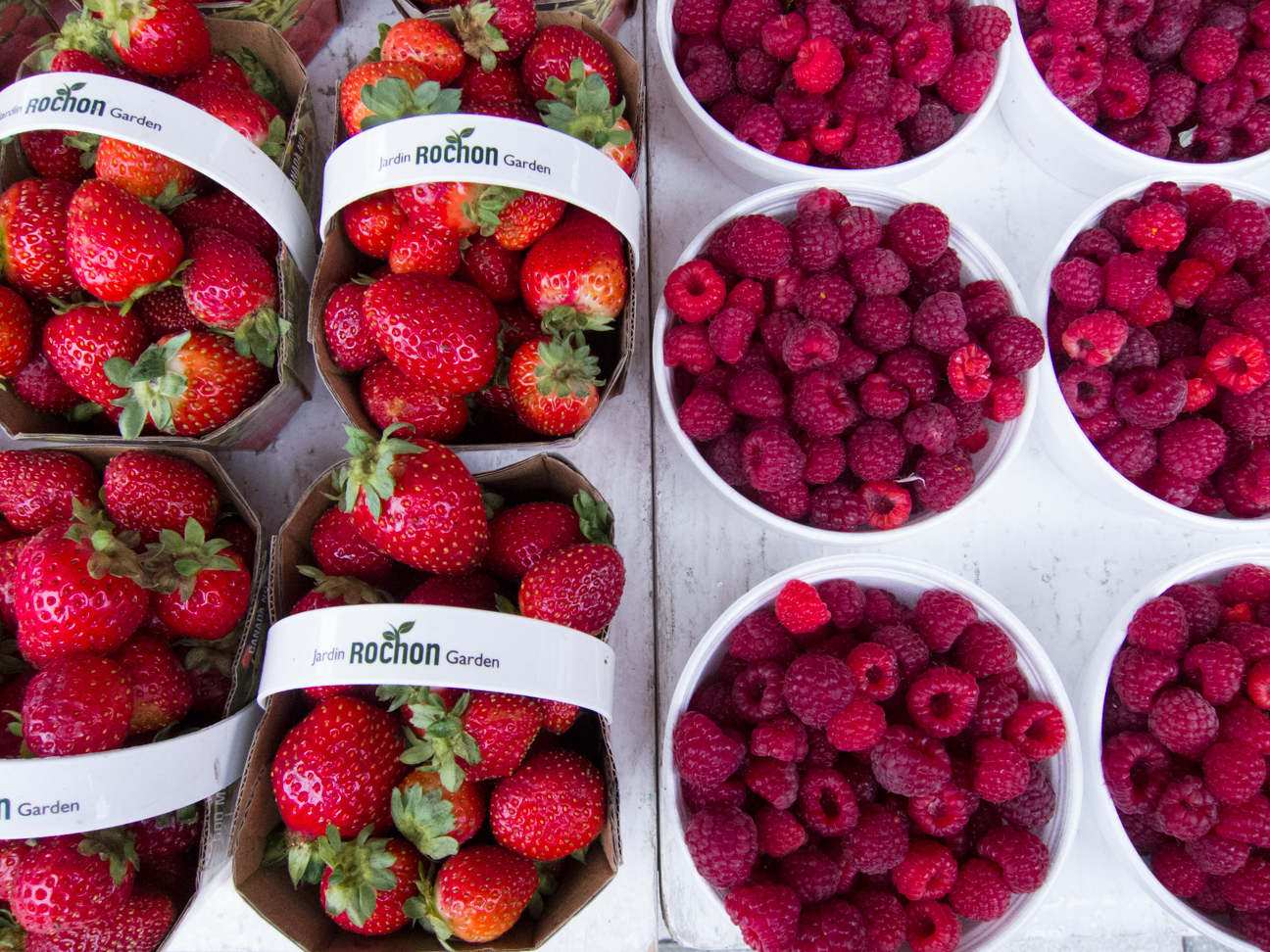 strawberries and raspberries at Ottawa Farmer's Market