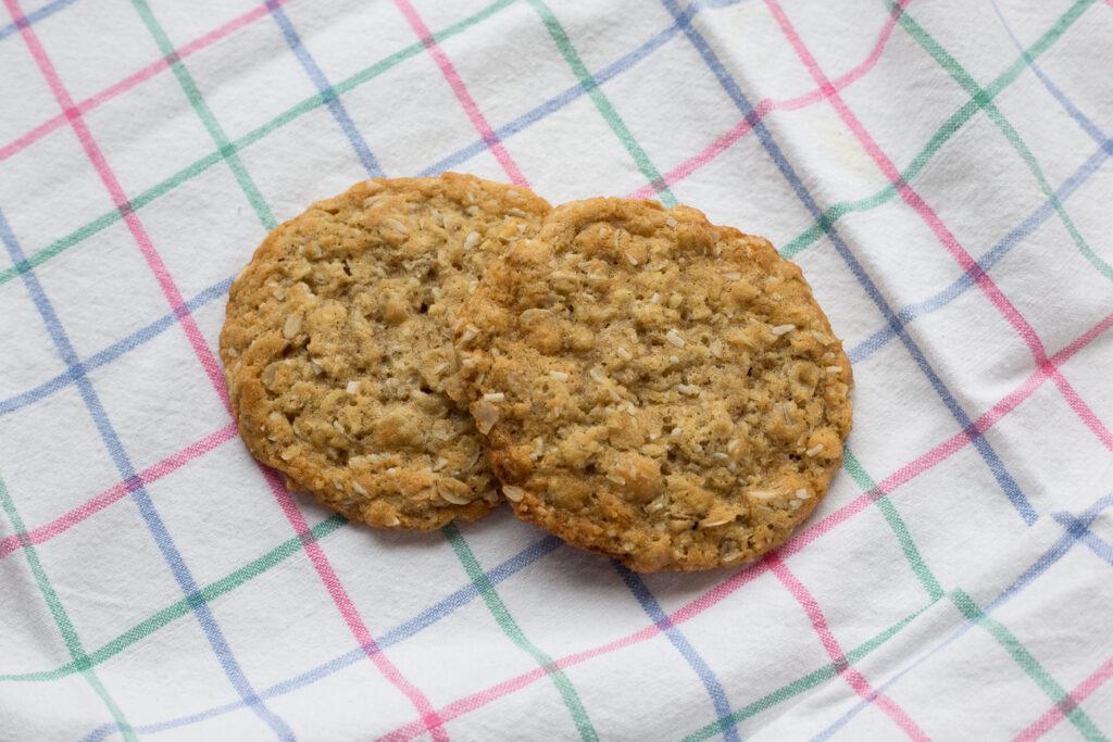 two Orange Maple Anzac Cookies