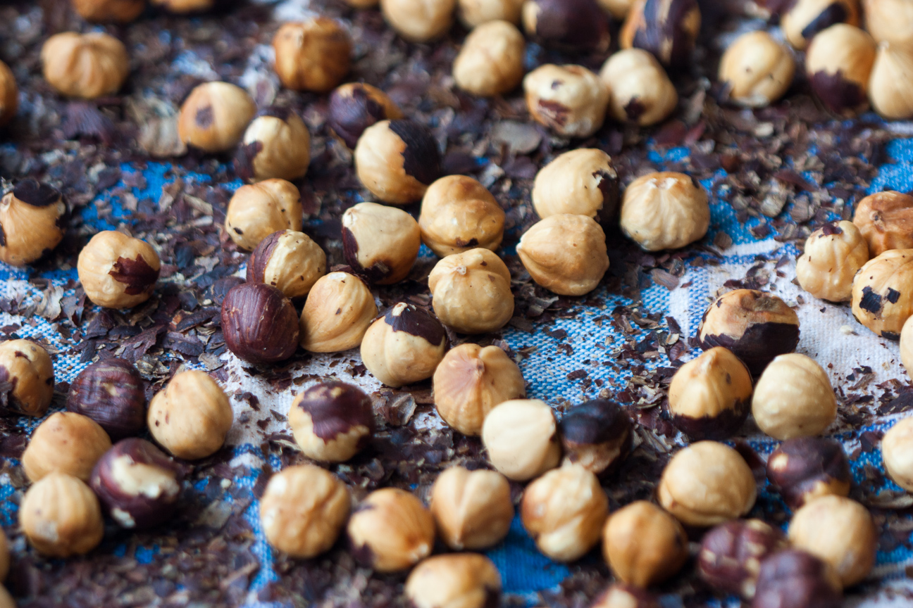 Roasted Hazelnuts for Nutty Chocolate Hazelnut Spread