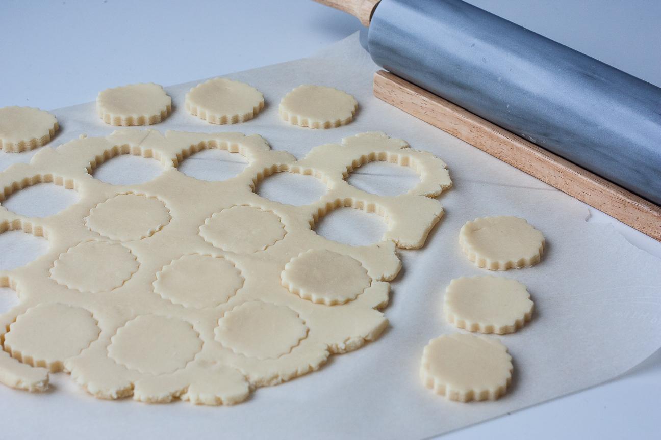 raw dough for orange nutella alfajores
