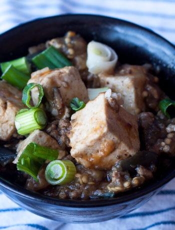 ma po tofu with eggplant