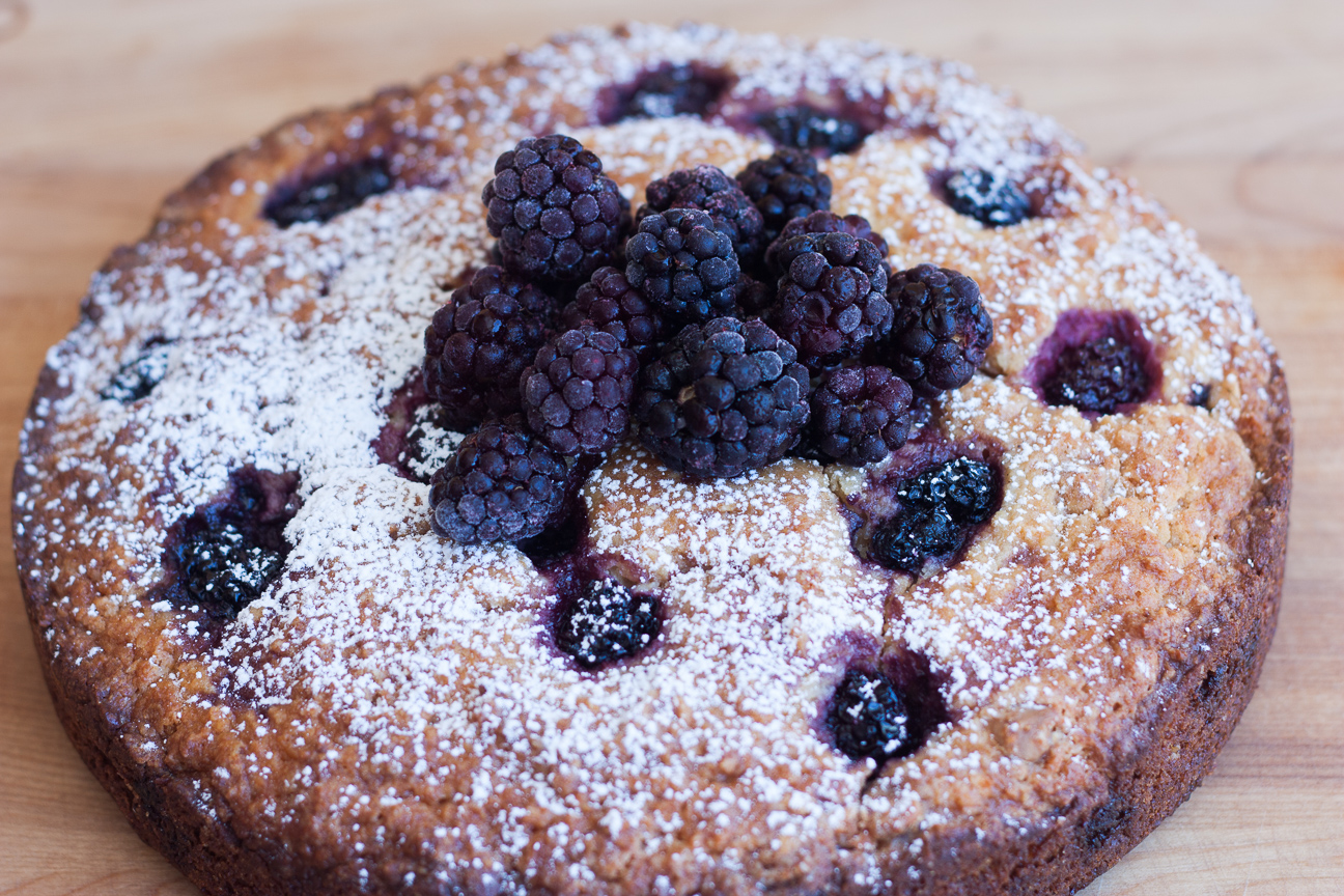 salted caramel blackberry cake