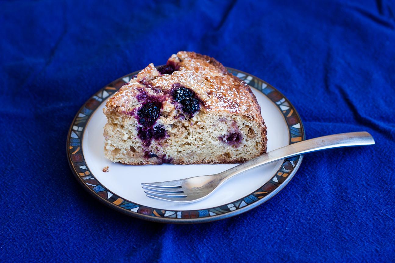 salted caramel blackberry cake
