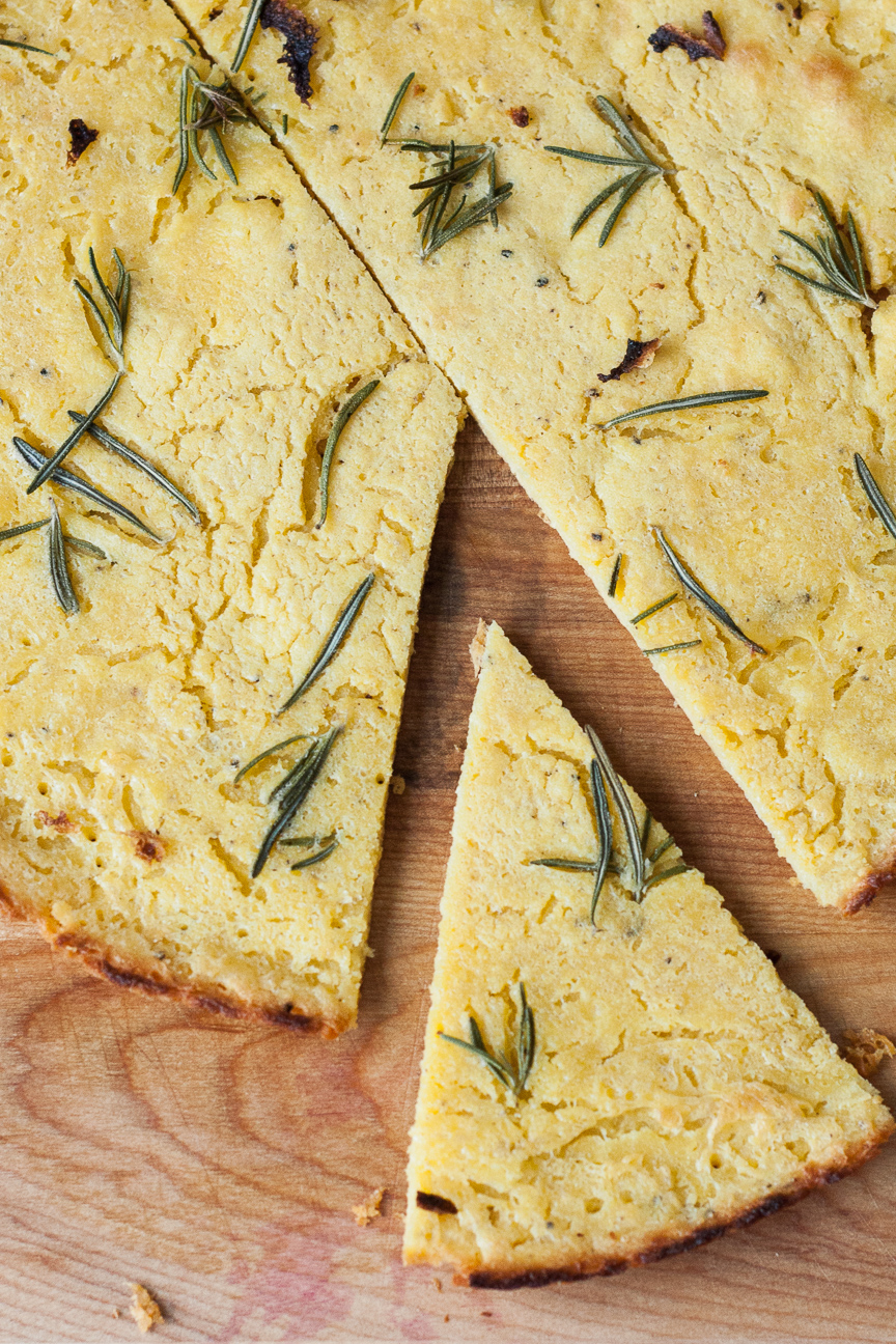 torta di ceci with rosemary
