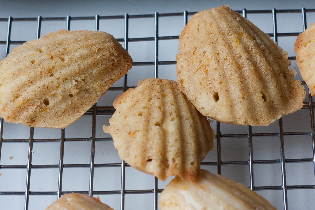 brown butter orange hazelnut madeleines