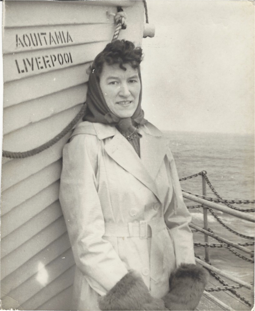 woman on ship