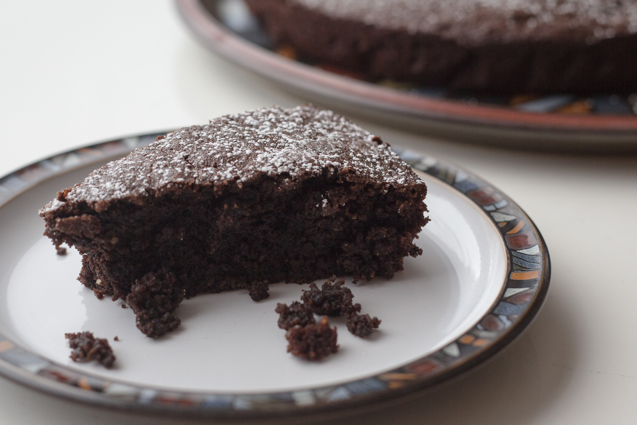 slice of Chocolate Orange Almond Cake
