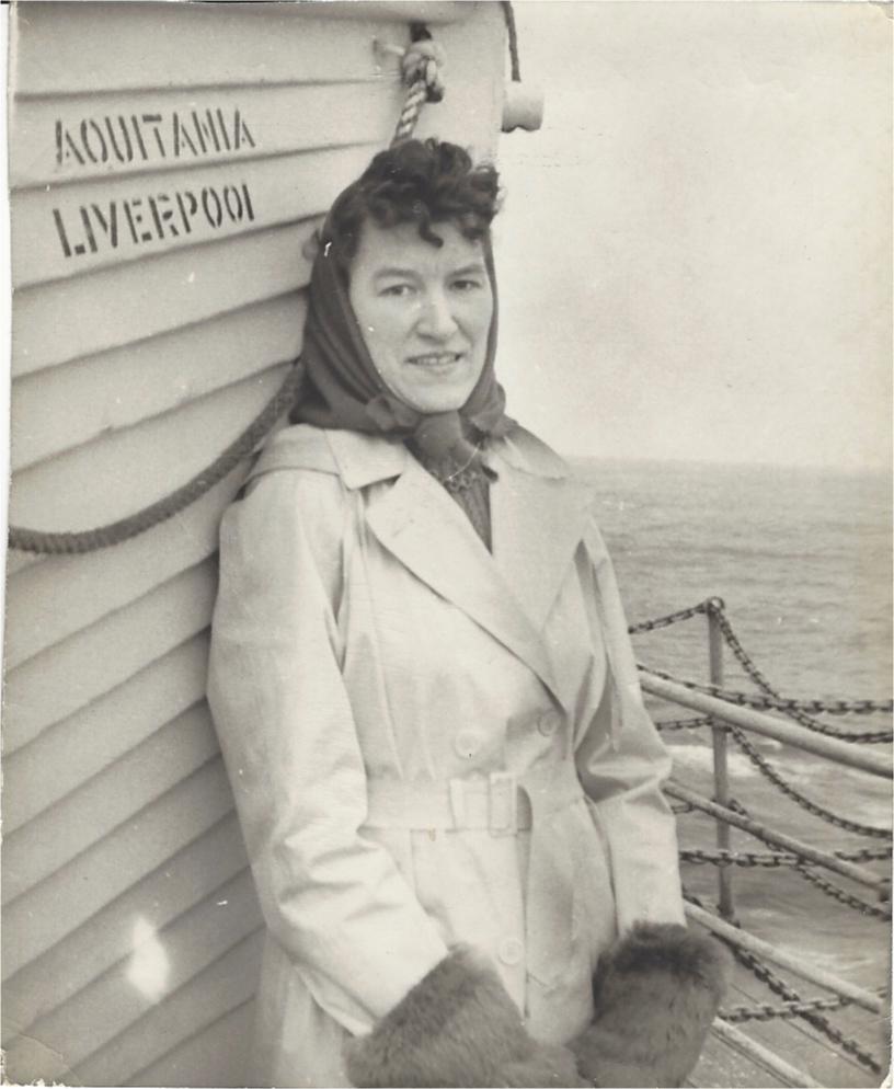 Mum on the Aquitania