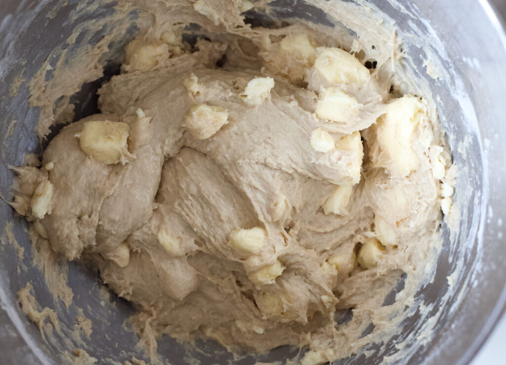 Danish pastry dough in a bowl