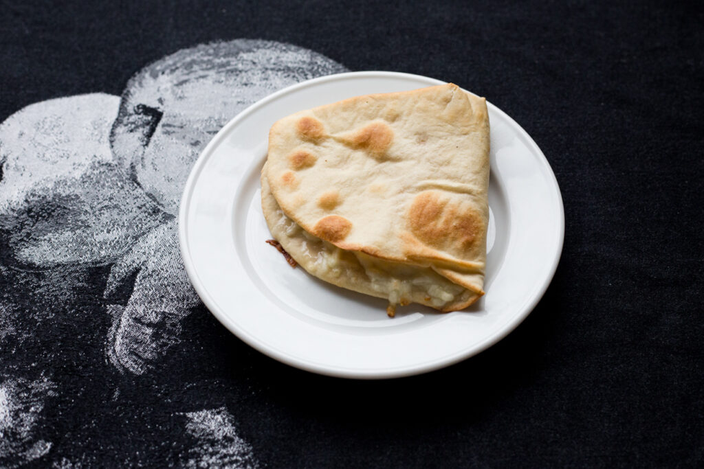 cheese pie on a plate